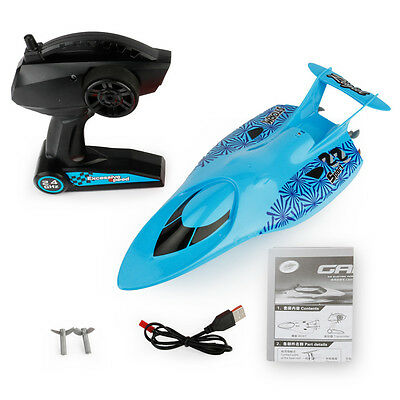 RC Boat 2.4G Children Toy Water Cooling Electric Racing Speedboat 4 channels