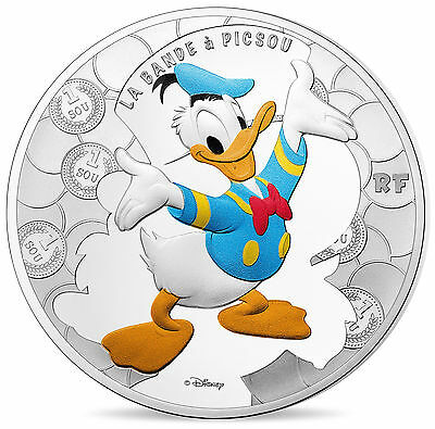 10 Euro Silver Proof Dagobert Duck & Co DuckTales Donald Duck Frankreich France