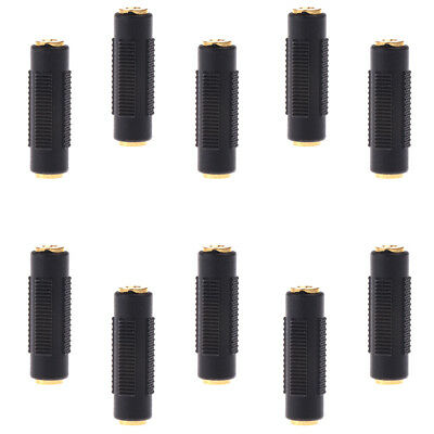 10x 3.5mm Stereo Female to Female Jack Audio Plug Connector/Coupler Adapter