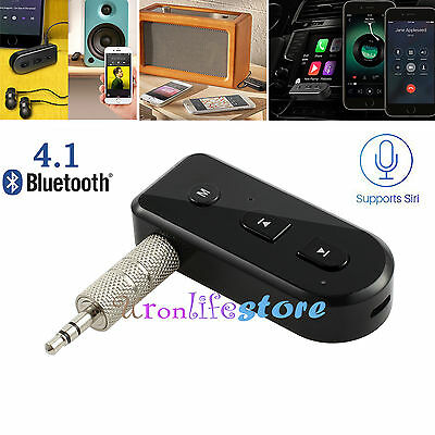 Wireless Bluetooth Audio Receiver Home Car Music Stereo Hands-Free 3.5mm Adapter