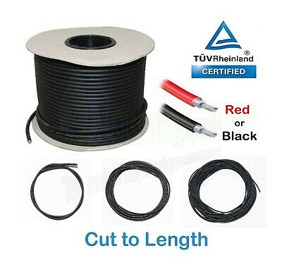 Solar Panel PV Cable, Cut to Length, TUV double insulated, 1800V, low voltage dr