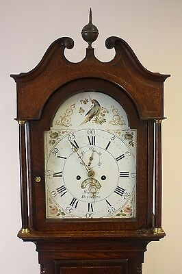 RESTORED PAINTED WILSON DIAL  8 DAY LONGCASE CLOCK by MORTIMORE DARTMOUTH