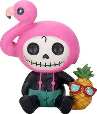 FurryBones Flamingo Star Figurine Cute Different Gothic Skull Skeleton Gift Pink