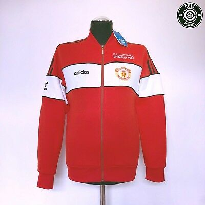 MANCHESTER UNITED Adidas Originals Home Football FA Cup Final 1985 Track Top (S)