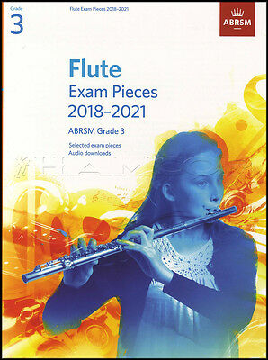 Flute Exam Pieces 2018-2021 ABRSM Grade 3 Sheet Music Book with Audio