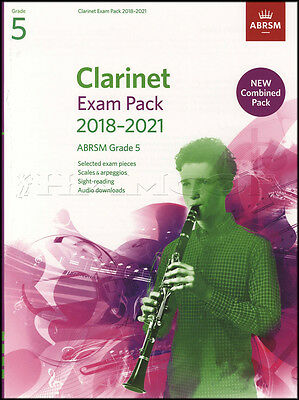 Clarinet Exam Pack 2018-2021 ABRSM Grade 5 Music Book/Audio Scales Arpeggios