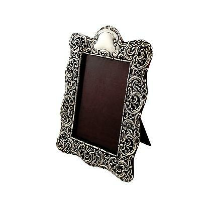 """Antique Victorian Sterling Silver 9"""" Photo Frame - 1899"""