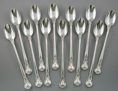 12 Gorham Chantilly  Sterling Silver Iced Tea Spoons  NO RESERVE