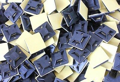 20mm x 20mm Self Adhesive Cable Tie Mount Clip Zip Tie Holder Wall Install Base