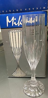 Mikasa Crystal PARK LANE Set Of Four Champagne Flutes SN101 GREAT CONDITION