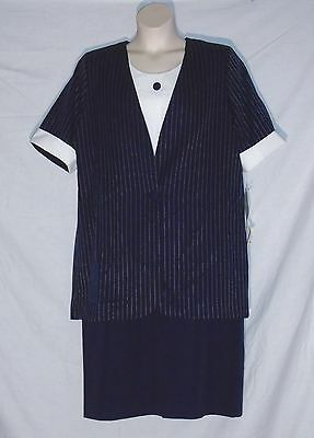 a8b013ef072 Lane Bryant Vintage 70 s Duster Jacket   Dress Set - Blue   White ...