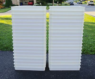 "- Lot of 38 - 26"" x 18"" x 3"" Pizza Dough Proofing Boxes w/ 4 Lids - PICK-UP ONLY"