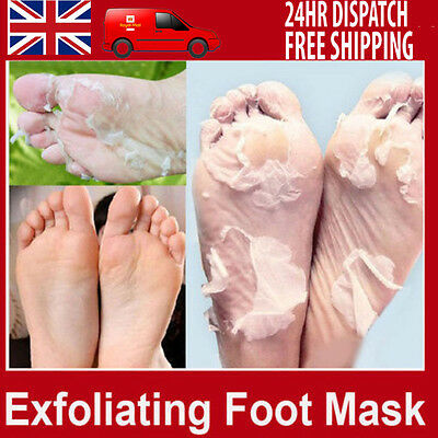 Exfoliating Peel Foot Mask Baby Soft Feet Remove Hard Dead Skin Callus Care UK