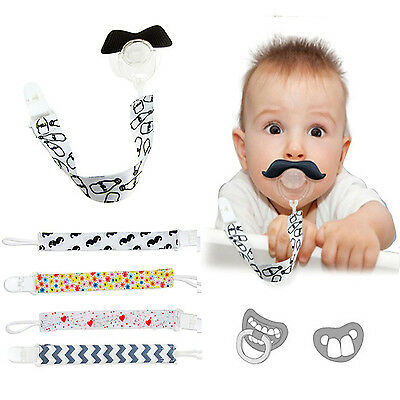 Baby Pacifier Holder Newborn Boys Girls Dummy Soother Leash Strap Clip Chain N