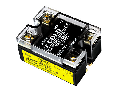 Solid State Relay UL,3-32VDC-in, 24-280VAC-out, 50A, DUAL-LED (Pt#: SAP2450D-L)