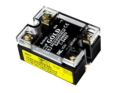 Solid State Relay UL, 3-32VDC-in, 24-280VAC-out, 60Amp, 2-LEDs (Pt#: SAP2460D-L)