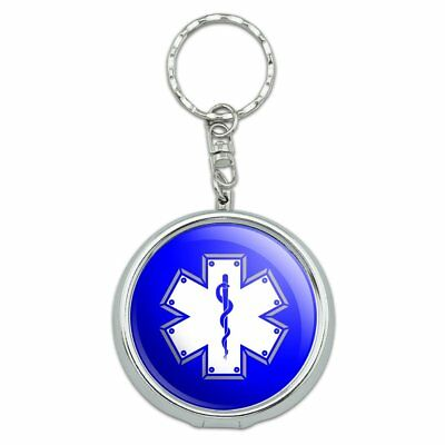 Star Of Life Medical Health EMT RN MD Portable Travel Ashtray Keychain