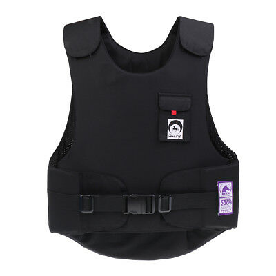 Super Flexible Equestrian Body Protector Adult Horse Riding Vest Black