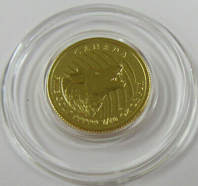 2015 Royal Canadian Mint 1/10 oz. .99999 Fine Gold Howling Wolf in Assay Card