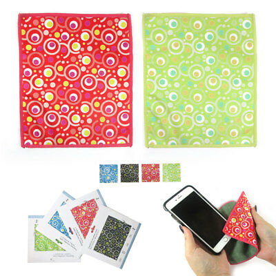 2 Microfiber Cleaning Cloths Lens Glasses TV Screen Camera Cellphone LCD Glass