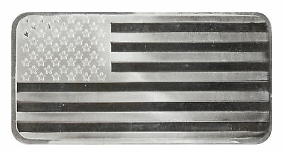 Lot of 10 - 10oz Silver Flag Bar .999 - Sealed Plastic
