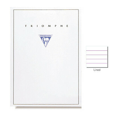 "Clairefontaine ""Triomphe"" Stationery Tablet, Lined, A4 (8.25"" x 11.75"")"