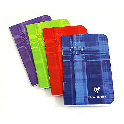 "Clairefontaine #3586 Notebook 3"" x 4.75"", Assorted Colors, Ruled"