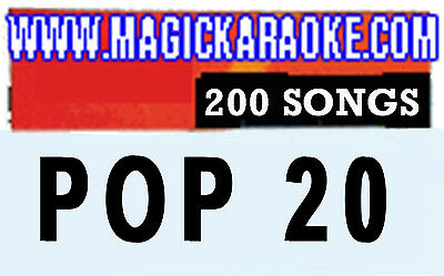 """MAGIC SING """"POP Vol.20"""" Song Chip - 200 English, SONG LIST, Works on ALL Models"""