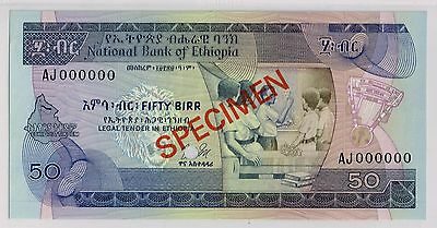 08National Bank of Ethiopia. 50 Birr. Specimen. Gem Uncirculated. Pick # 33s.