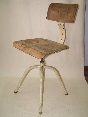 Beautiful age Workshop chair, Art Deco Swivel chair Vintage Design Stools