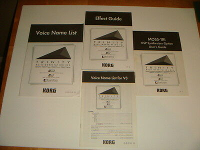 KORG MOSS-TRI DSP Synthesizer Optioin User's Guide Effect Guide Voice Lists