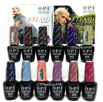 Gelcolor Soak-off Nail Polish  ICELAND Collection - Pick Any Color/Base/Top .5oz