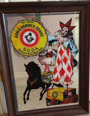 VTG Arm and Hammer Brand Baking Soda Mirror Church And Co New York Advertising