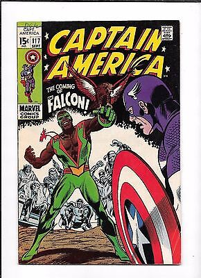 Captain America #117 ==> Vf- 1St Appearance Of The Falcon Marvel Comics 1969