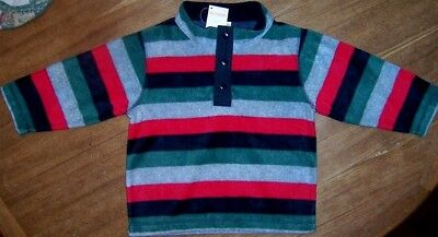 Fleece Top Stripe Gymboree Winter Long Sleeve Toddler Boy 12-14 mo 2T-3T New