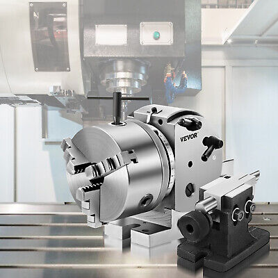 "5"" Vertical & Horizontal Rotary Table, 3-Jaw Chuck, 3-Dividing Plates Kit"