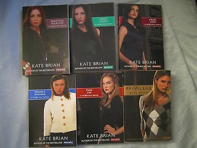 Lot Of 6 Privilege Novels By Kate Brian
