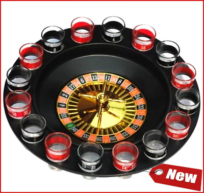 Shot Glass Roulette - Drinking Fun Game Set (Comes W/ 2 Balls & 16 Shot Glasses