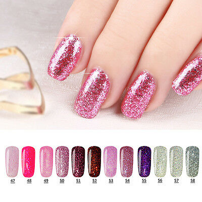 10ml Vernis à Ongle Soak Off UV Gel Diamant Permanent Paillette Nail Polish