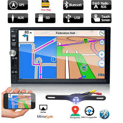 "7"" HD Double 2 Din Car NON DVD GPS Player Radio Stereo Navi Navigation Bluetooth"
