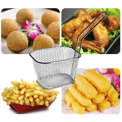 Hot Mini Frying Net Square Basket Strainer French Fries Fryer Tools fried food