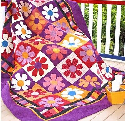 Bohemian Rhapsody - fun pieced and applique quilt PATTERN - Me & My Red Boots