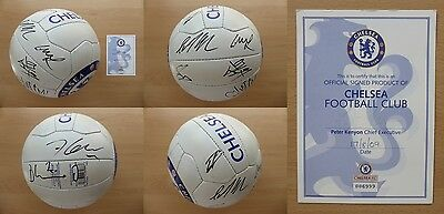 2009-10 Chelsea Double Winners Squad Signed Football with Official COA (11199)