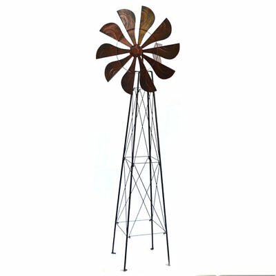 Garden Windmill Cattle Station Metal Iron Tall Big Ornament Sculpture 170cm