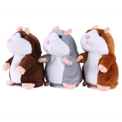 AU Cute Talking Hamster Plush Toy Lovely Speaking Sound Record Repeat Kids Toy