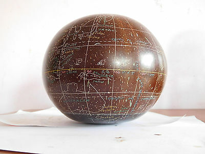 *found*vintage Hand Scribed World Globe Mystery Item / Material Please Help