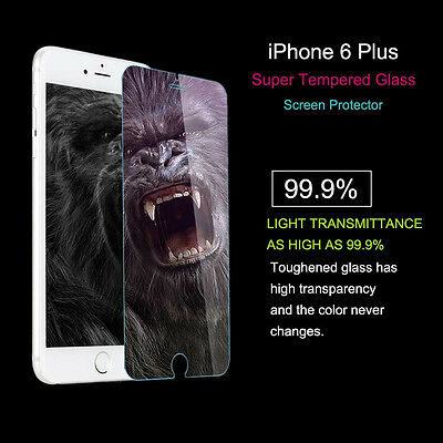 Tempered Glass Film Screen Protector Iphone 6 Plus 100% 9H 5.5 Inch Excellent