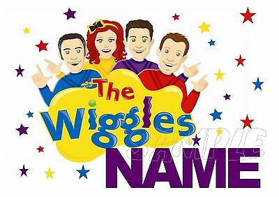 IRON ON TRANSFER - THE WIGGLES With Name T-SHIRT COSTUME WIGGLE