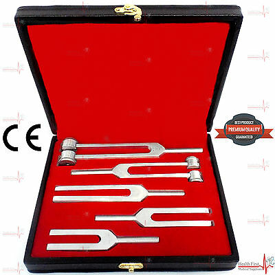 Medical TUNNING SET TUNING FORK Diagnostic 5Pcs SET ENT Quality Aliminium CE