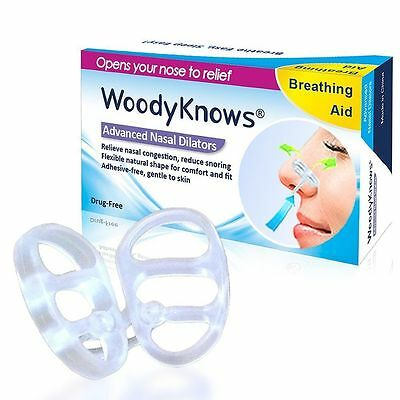 WoodyKnows Snoring Solution Snore stopper Nasal Dilators Relieve Nose Congestion